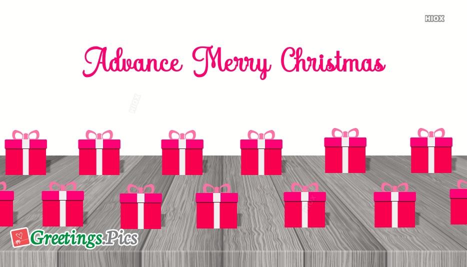 Advance Merry Christmas