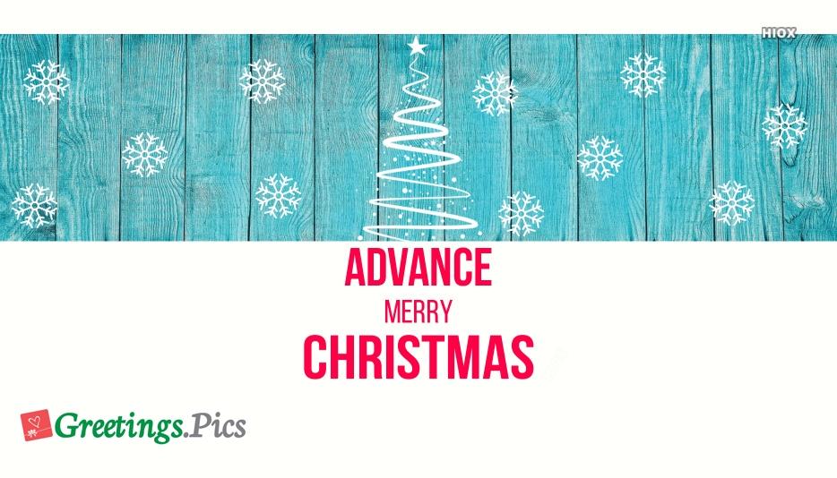 Advance Merry Christmas Photo