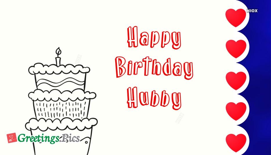Birthday Greetings To Hubby
