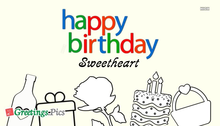 Birthday Greetings To Sweetheart