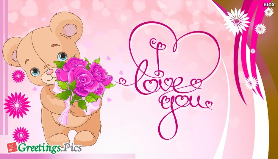 Cute I Love You Greeting