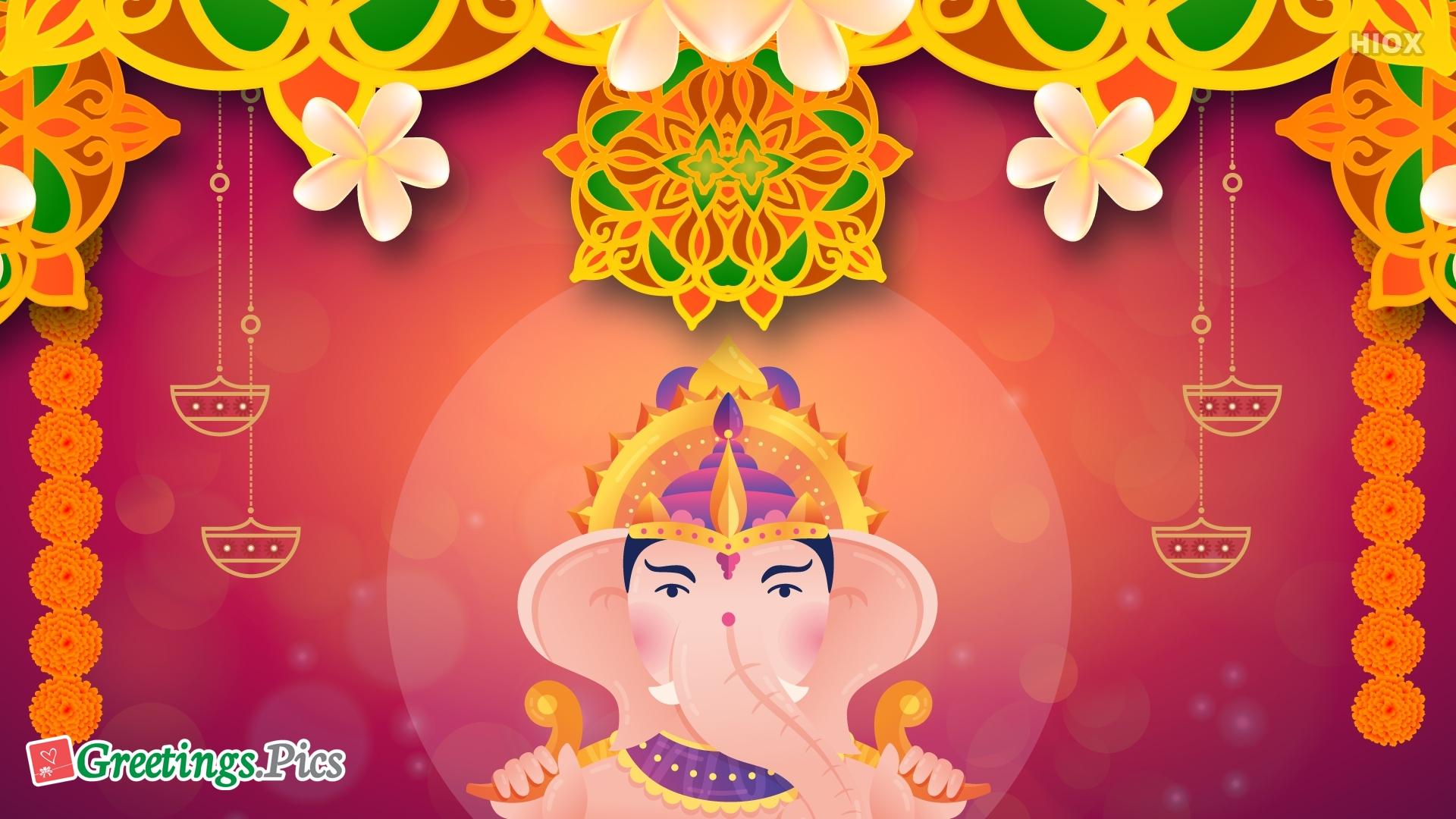 Ganesh Chaturthi Background Decoration