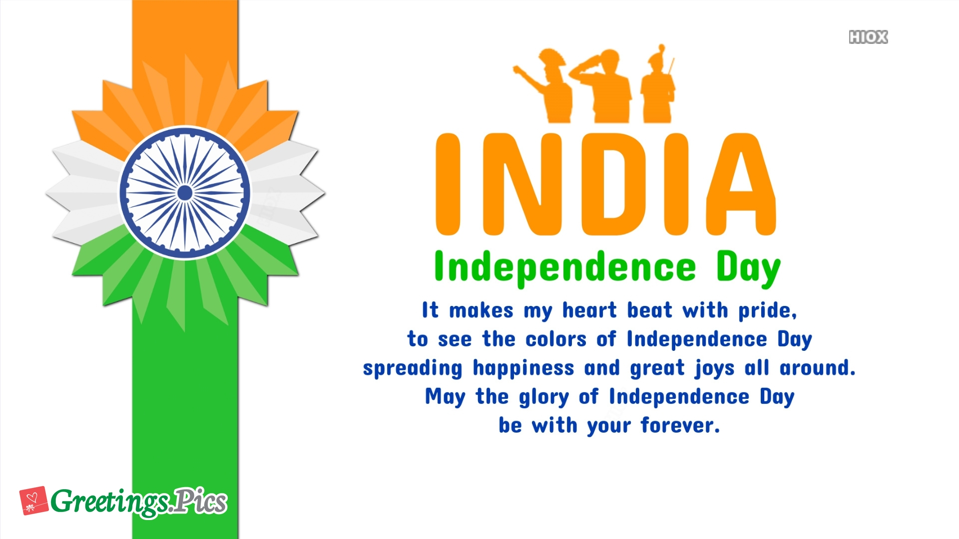 Glory Of Independence Day Greeting