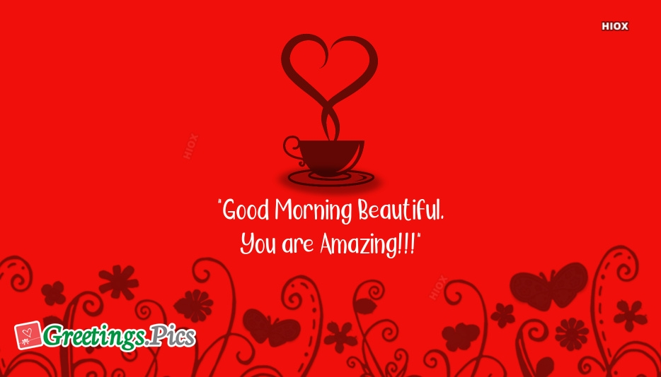 Good Morning Beautiful Greeting for Girlfriend