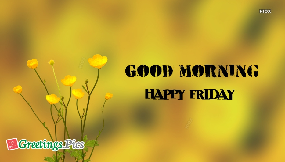 Good morning happy friday greetings m4hsunfo