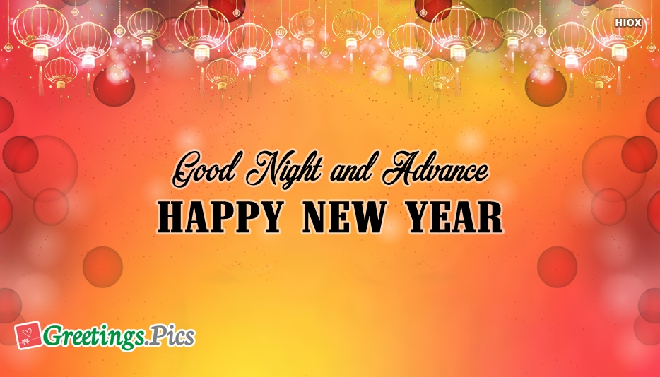 Good Night And Advance Happy New Year