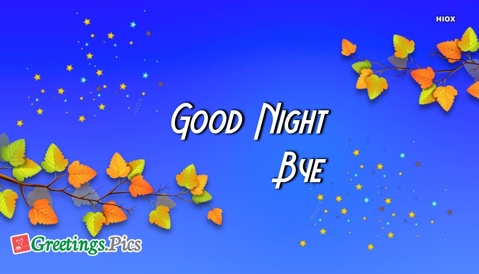 Good Night and Bye