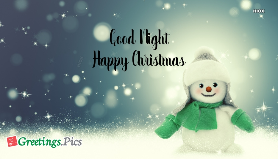 Good Night And Happy Christmas
