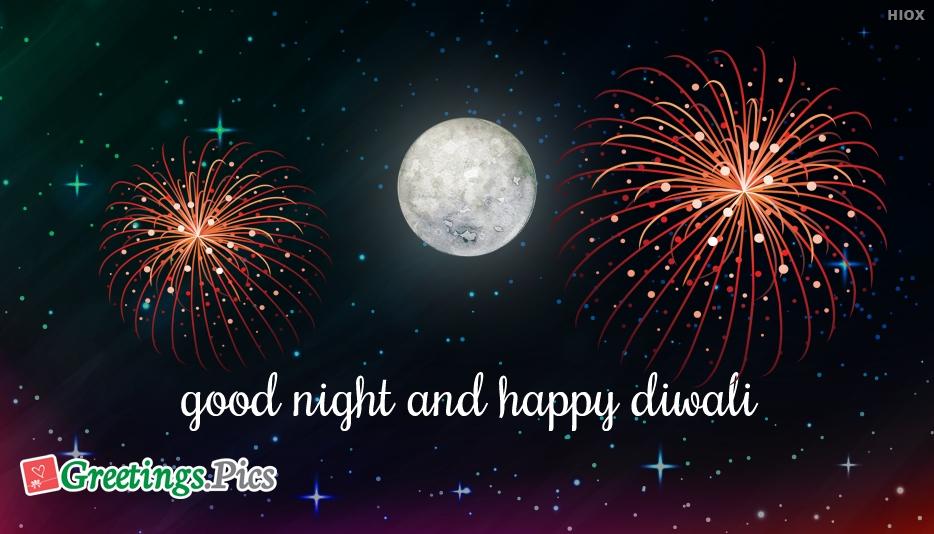 Good Night And Happy Diwali