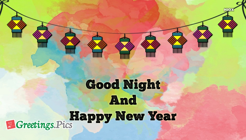 Good Night and Happy New Year Sms