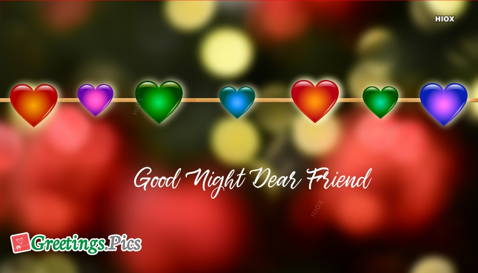 Good Night Greeting Cards For Friends
