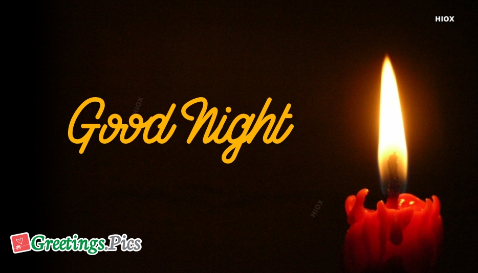 Good Night With Candle Light