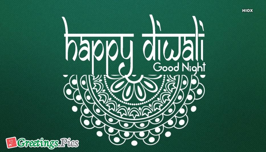 Good Night With Diwali