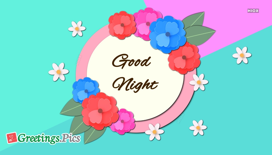 Good Night With Flowers Hd