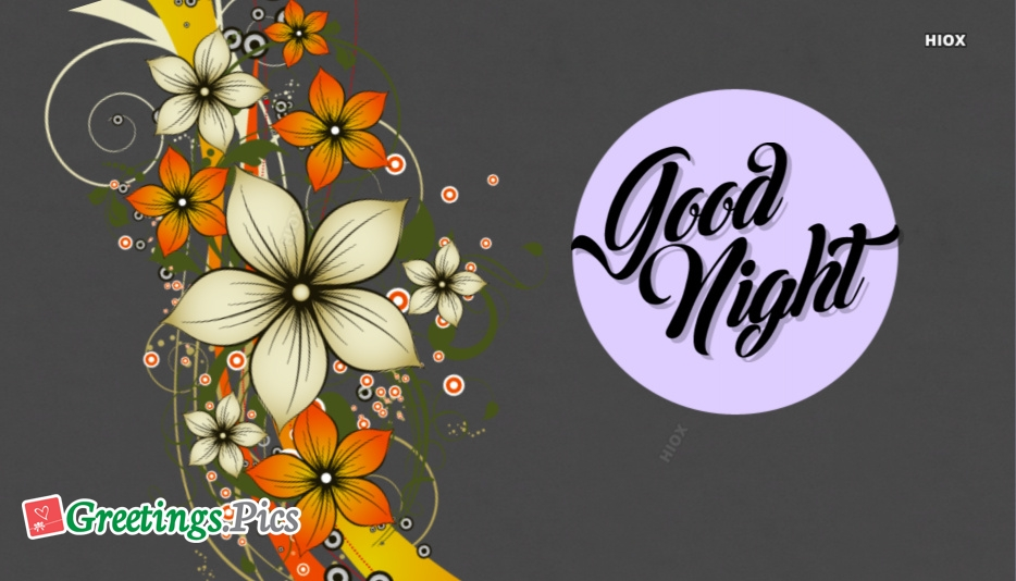 Good Night With Flowers Image
