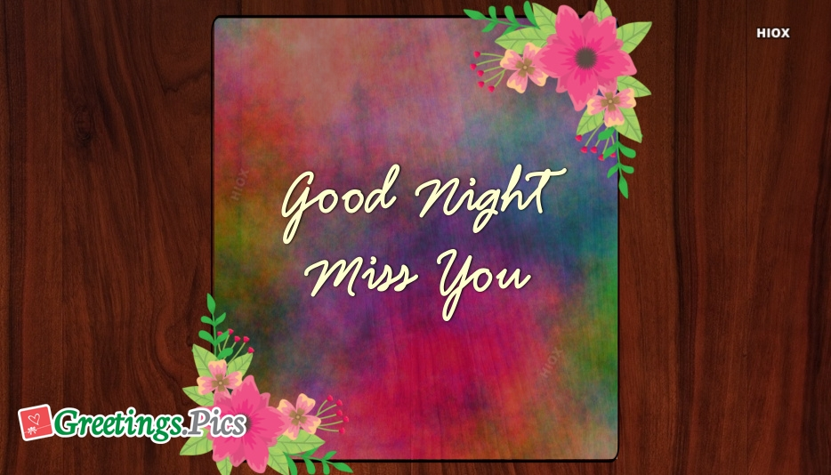 Good Night With Miss U At Greetingspics