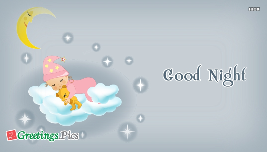 Good Night Baby Greetings, Images