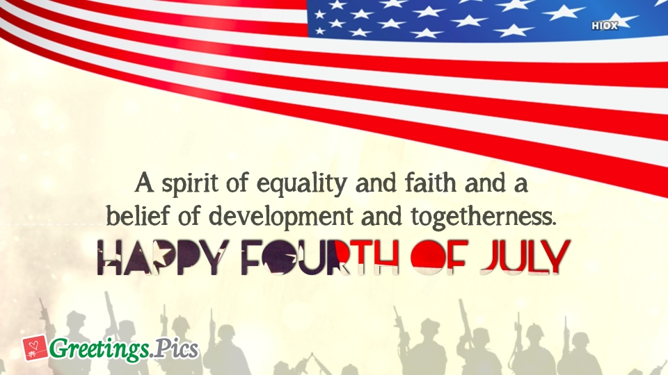 Greetings For July 4
