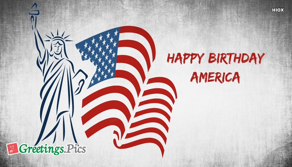 Happy Birthday American Flag Images