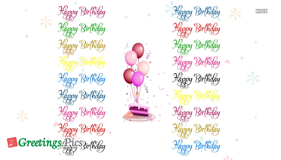 Happy Birthday Colorful Text