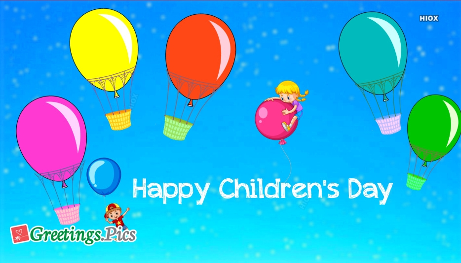 Happy Children Day Greeting Cards