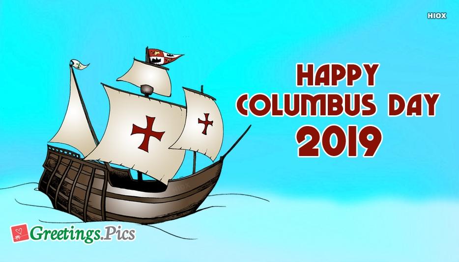 Columbus Day Greeting Cards