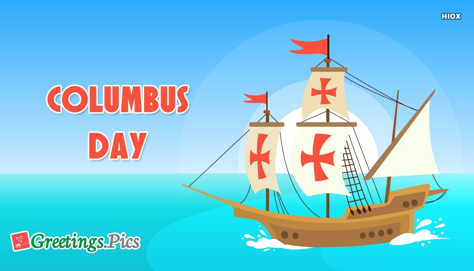 Columbus Day Greeting Cards