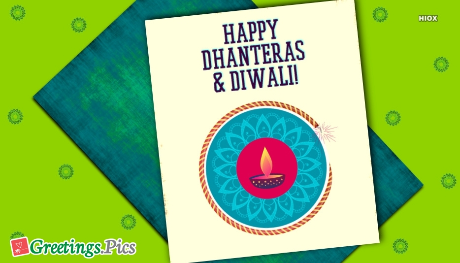 Happy Dhanteras Festival Greeting Cards Wishes Images