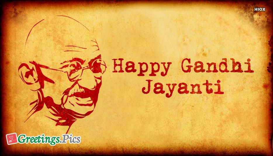 Happy Gandhi Jayanti Images, Greetings