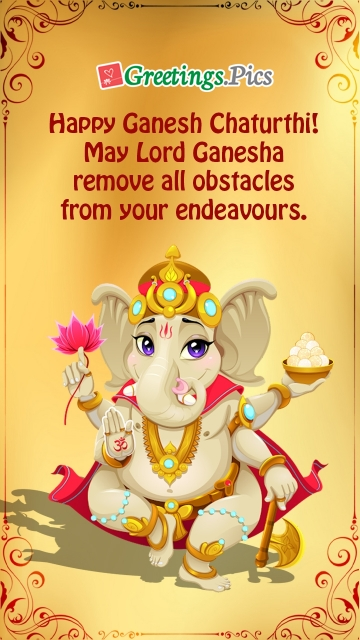 Happy Ganesh Chaturthi Blessings Quotes