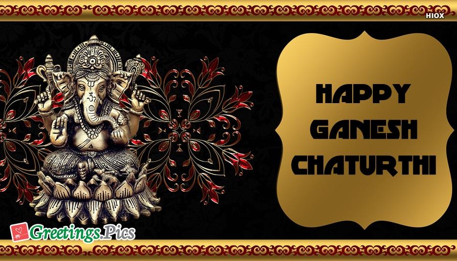 Happy Vinayaka Chaturthi Wishes Greetings Images