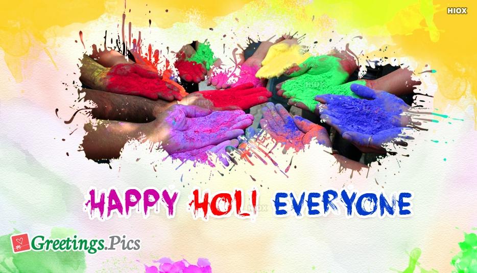 Happy Holi Everyone