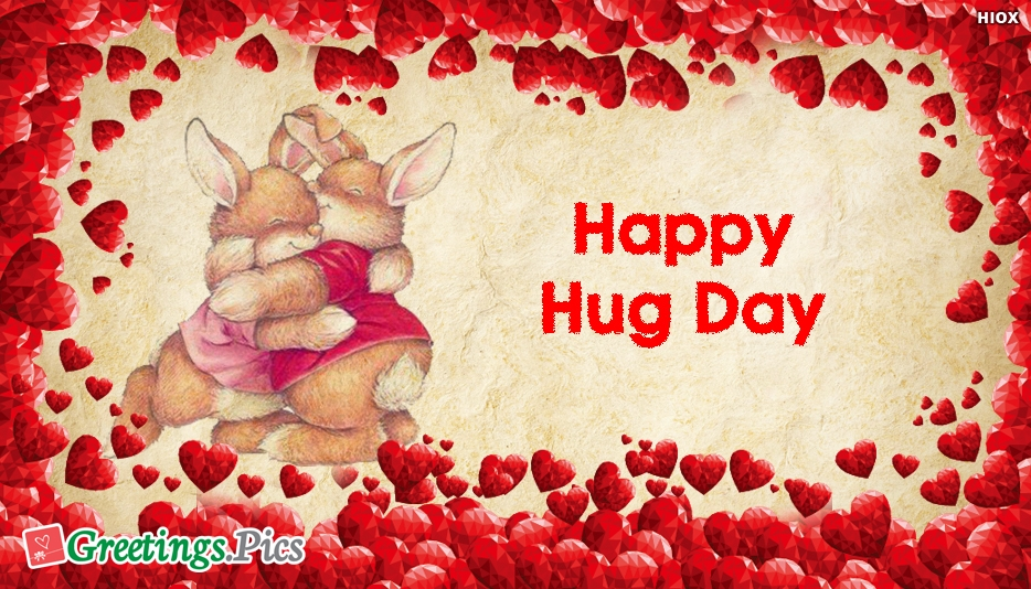 Happy Hug Day Wishes With Hugging Teddies