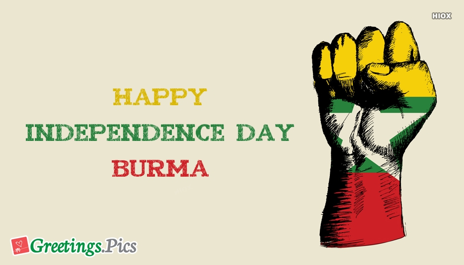 Happy Independence Day Burma