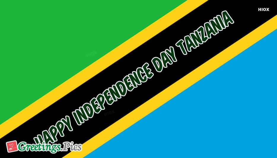 Happy Independence Day Tanzania