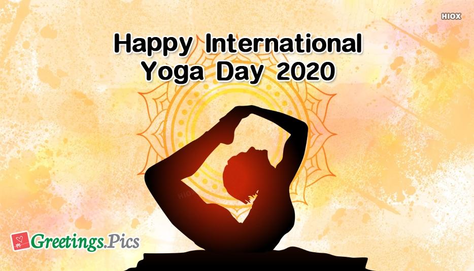 Happy International Yoga Day 2020 Greetings Pics