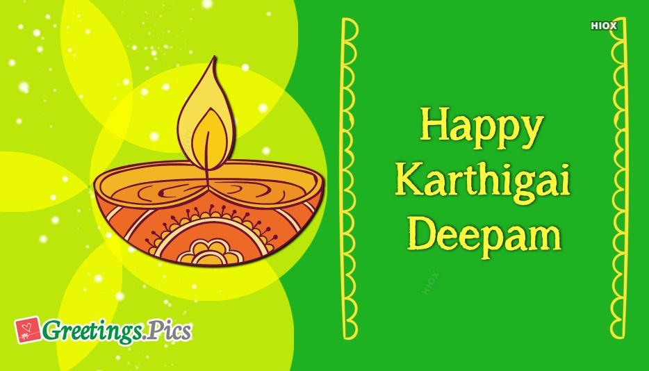 Karthigai Deepam Greeting Cards