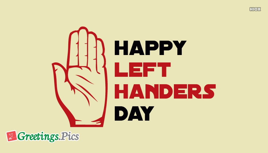 International Left Handers Day Greeting Cards