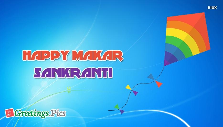 Happy Makar Sankranti Wishes Greeting Image