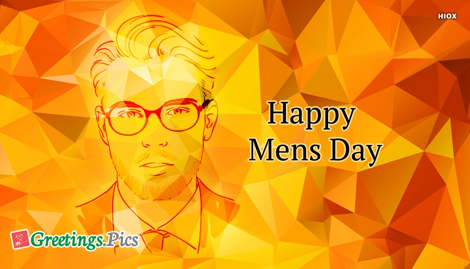 Professional Man Happy Mens Day Greeting Image