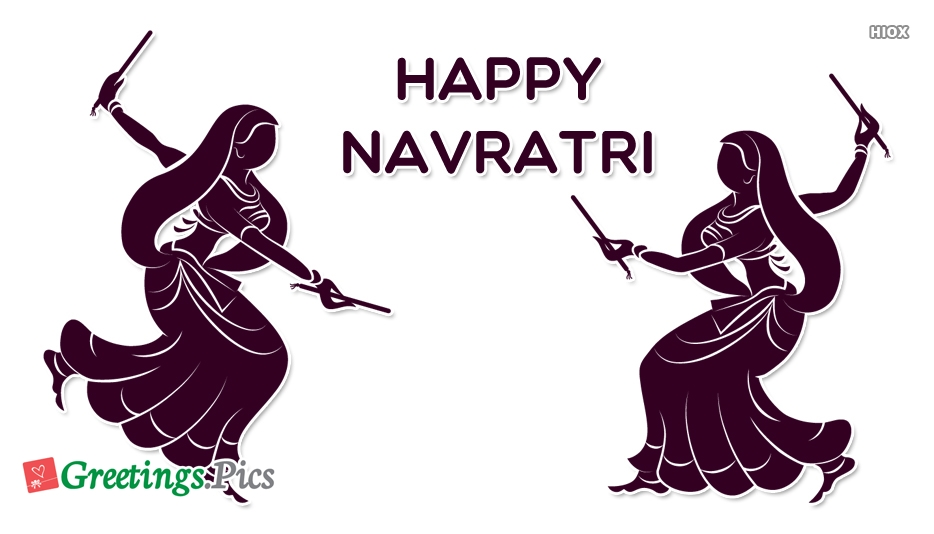 Happy Navratri Greeting Cards