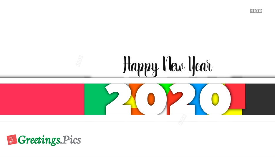 Happy New Year 2020 Colorful