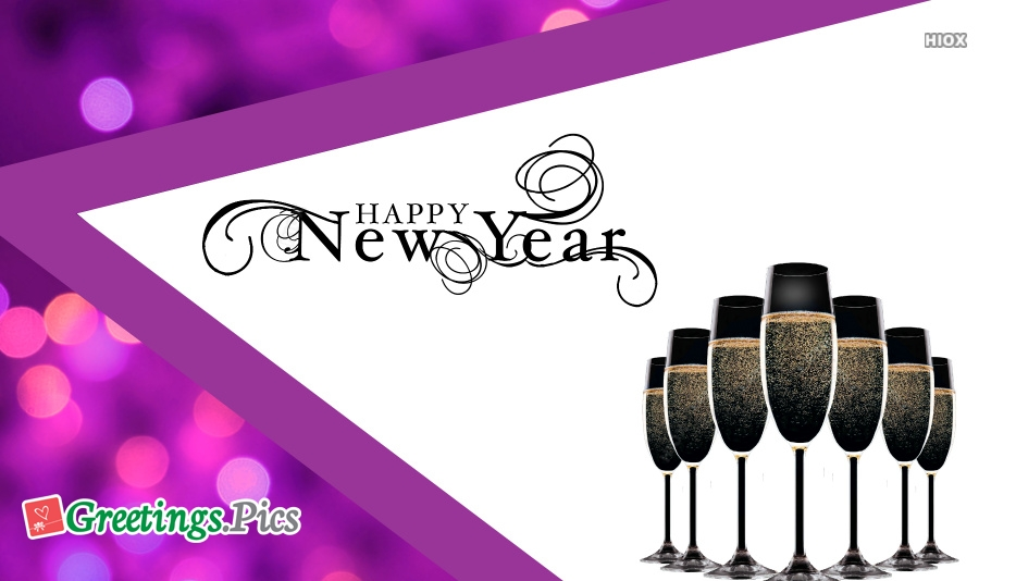 Happy New Year Glitter Png