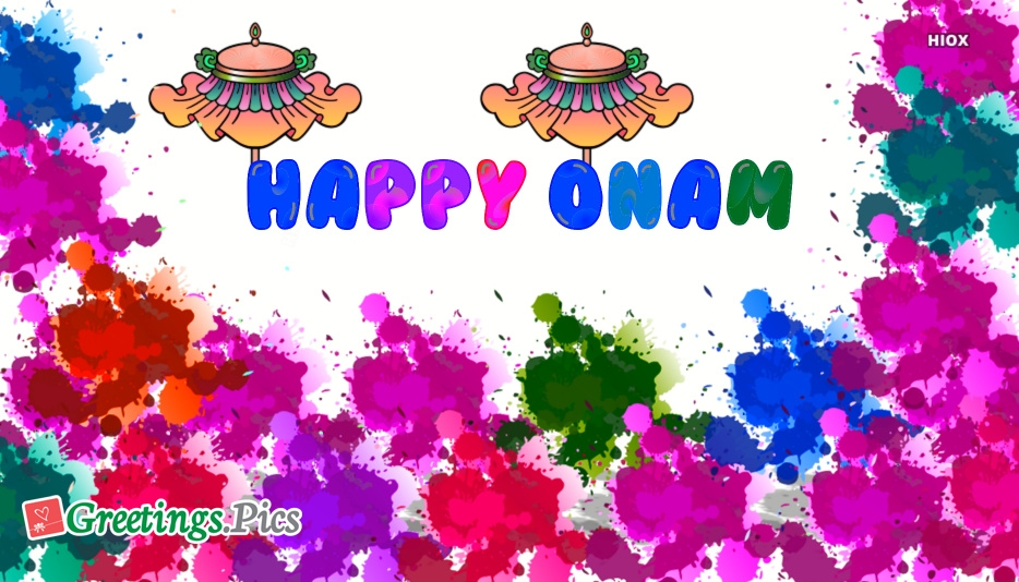 Happy Onam Colorful