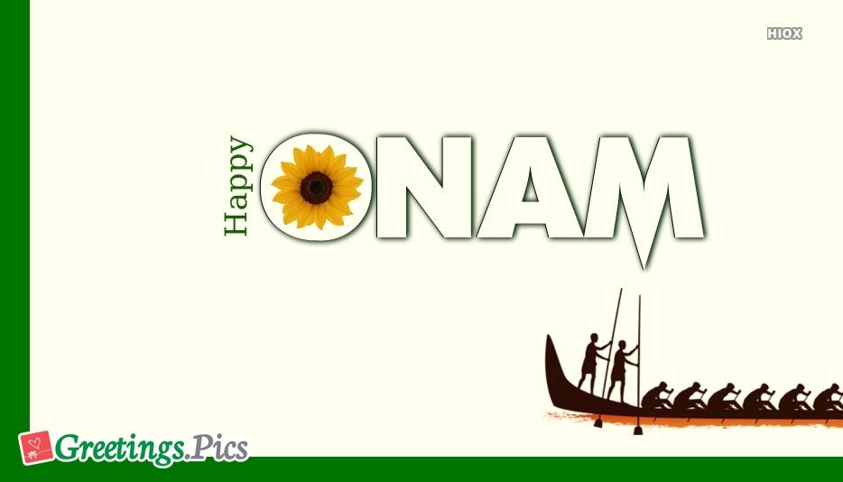 Happy Onam Flower