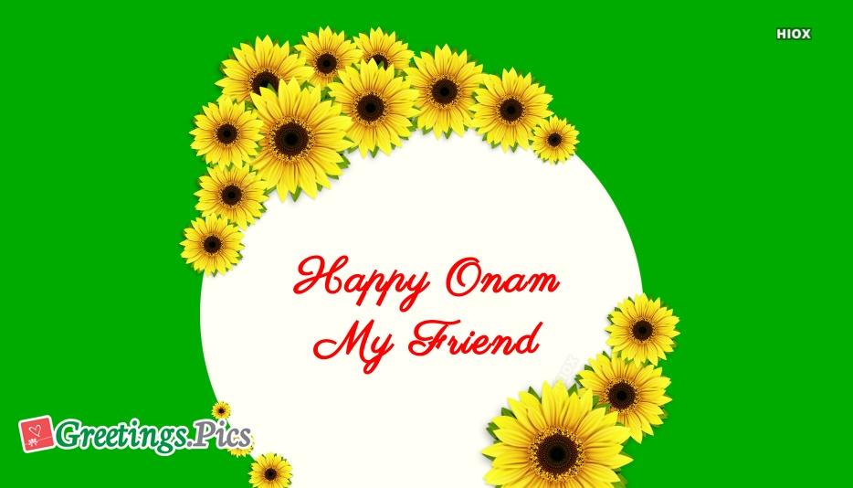 Happy Onam Friend