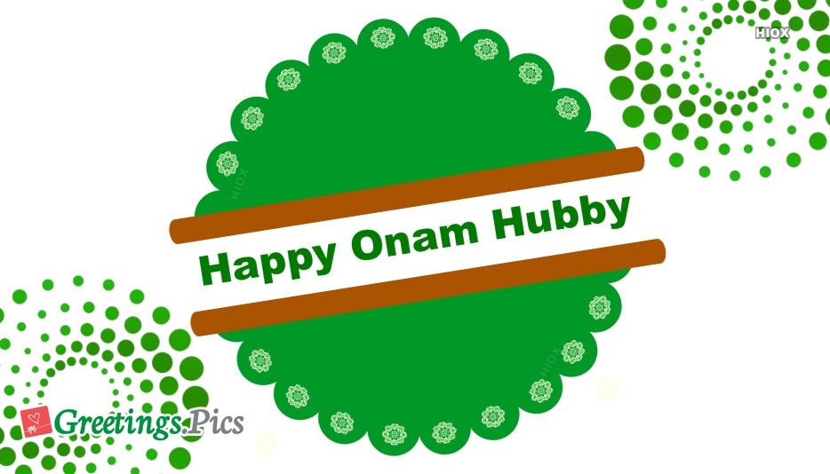 Happy Onam Husband