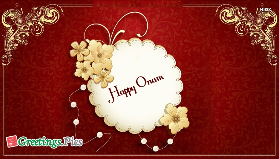 Happy Onam Simple