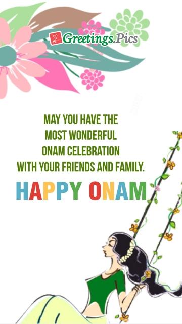 Happy Onam Sister Ecard
