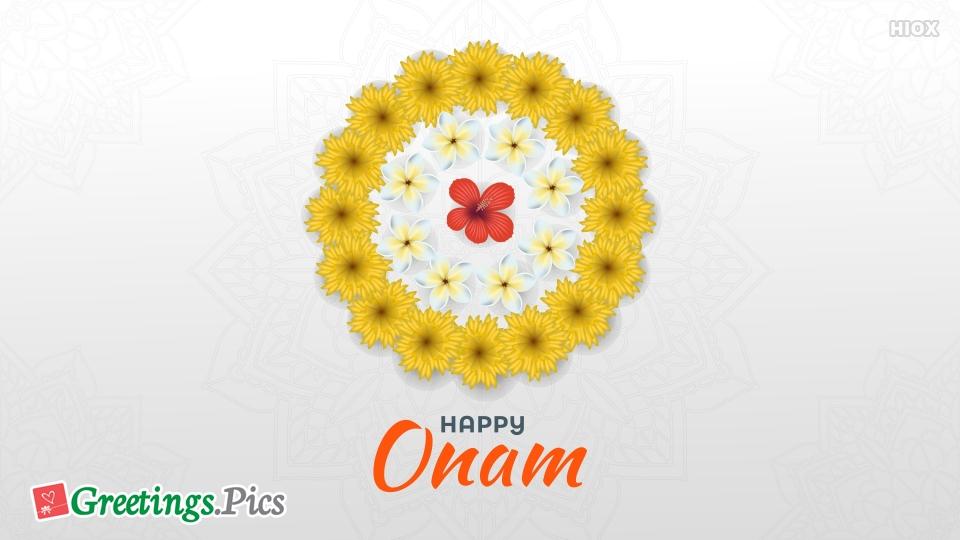 Happy Onam White Background